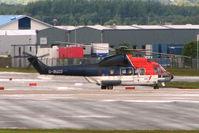 G-BUZD @ EGPD - AS 332L at Perth Airport in Scotland