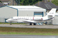 LN-SOV @ EGPD - Norweigan Cessna Sovereign on the Aberdeen Exec Ramp