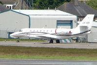 LN-SOV @ EGPD - Norweigan Cessna Sovereign on the Aberdeen Exec Ramp