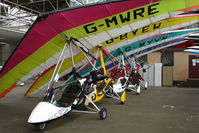 G-MWRE @ EGPT - Gemini Flash leads a row of Microlights at Perth