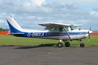 G-BMXA @ EGPT - Cessna 152 at Perth Airport in Scotland