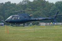 G-JBBZ - One of the helicopters at Epsom on 2009 Derby Day - by Terry Fletcher