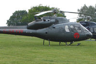 G-SKYW - One of the helicopters at Epsom on 2009 Derby Day