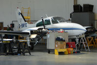 G-BWYE @ EGPT - Cessna 310R on maintenance at Perth Airport in Scotland