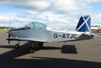 G-ATJC @ EGPT - Victa Airtourer at Perth Airport in Scotland