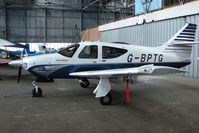G-BPTG @ EGPT - Rockwell 112Tc at Perth Airport in Scotland
