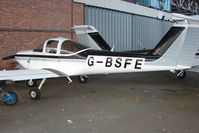 G-BSFE @ EGPT - Piper Tomahawk at Perth Airport in Scotland