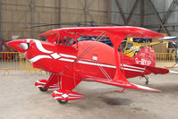 G-BYIP @ EGPT - Pitts S-2A at Perth Airport in Scotland