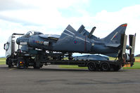 ZH139 @ EGPT - Relpica Harrier GR7 as a travelling exhibit for RAF recriutment