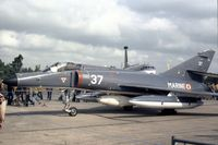 37 @ GREENHAM - Super Etendard 37 of French Aeronavale's 14 Flotille at the 1981 Intnl Air Tattoo at RAF Greenham Common. - by Peter Nicholson