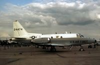 62-4474 @ GREENHAM - CT-39A Sabreliner of 58th Military Airlift Squadron on display at the 1981 Intnl Air Tattoo at RAF Greenham Common. - by Peter Nicholson