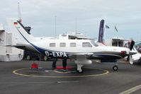 D-EXPA @ EGTB - Pa-46 exhibited at 2009 AeroExpo at Wycombe Air Park