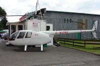 G-WDNG @ EGTB - Robinson R44 exhibited at 2009 AeroExpo at Wycombe Air Park
