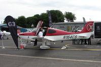 N164CS @ EGTB - Cirrus SR20 exhibited at 2009 AeroExpo at Wycombe Air Park