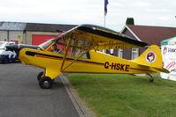 G-HSKE @ EGTB - Husky Aviat exhibited at 2009 AeroExpo at Wycombe Air Park