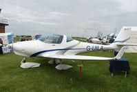 G-UILA @ EGTB - Aquila AT01 exhibited at 2009 AeroExpo at Wycombe Air Park