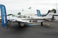 M-NINE @ EGTB - Beech Baron exhibited at 2009 AeroExpo at Wycombe Air Park