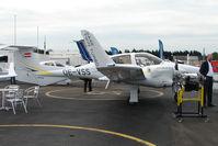 OE-VSS @ EGTB - Diamond exhibited at 2009 AeroExpo at Wycombe Air Park