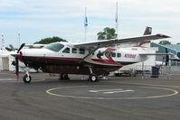 N208AE @ EGTB - Cessna Caravan exhibited at 2009 AeroExpo at Wycombe Air Park
