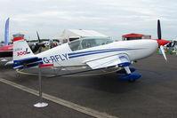 G-RFLY @ EGTB - Extra 300 exhibited at 2009 AeroExpo at Wycombe Air Park