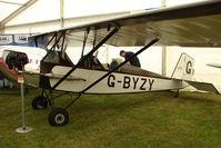 G-BYZY @ EGTB - exhibited at 2009 AeroExpo at Wycombe Air Park