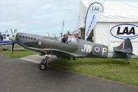 G-CCZP @ EGTB - Spitfire MK26 exhibited at 2009 AeroExpo at Wycombe Air Park