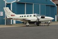 N9AY @ EGTB - Cessna 421C at Booker