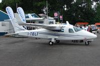 I-TELT @ EGTB - Prototype Tecnam 2006T exhibited at 2009 AeroExpo at Wycombe Air Park