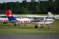 G-BMTJ @ EGLD - Cessna 152 at Denham - by moxy