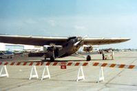 N414H @ DAY - At the Dayton International Air Show.  Instamatic 110 print. - by Glenn E. Chatfield