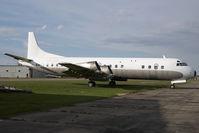 C-GZYH @ CYQF - Air Spray Lockheed Electra - by Yakfreak - VAP