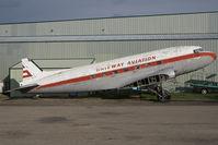 CF-JWP @ CYQF - Gateway Airlines DC3 - by Yakfreak - VAP