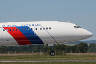 OM-BYO @ PZY - Slovak Government Flying Service Tupolev TU-154M