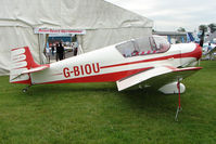 G-BIOU @ EGTB - Jodel D117A exhibited at 2009 AeroExpo at Wycombe Air Park
