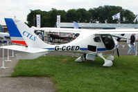 G-CGED @ EGTB - CTSW exhibited at 2009 AeroExpo at Wycombe Air Park