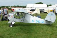 G-OKID @ EGTB - exhibited at 2009 AeroExpo at Wycombe Air Park