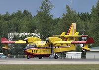 C-GQBE @ CYZH - Slave Lake Fire Base - by William Heather