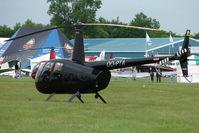 OO-PTA @ EGTB - Belgian R 44 - Visitor to 2009 AeroExpo at Wycombe Air Park