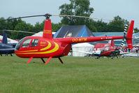 OO-MTM @ EGTB - Belgian R 44 - Visitor to 2009 AeroExpo at Wycombe Air Park