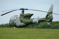 G-BZYD @ EGTB - XZ329 Gazelle - Visitor to 2009 AeroExpo at Wycombe Air Park