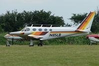 N85LB @ EGTB - Visitor to 2009 AeroExpo at Wycombe Air Park