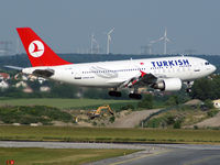 TC-JDB @ LOWW - Turkish Airbus A 310 as a special-guest in Vienna.