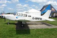 G-BRFM @ EGTB - exhibited at 2009 AeroExpo at Wycombe Air Park