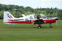 G-BZMD @ EGTB - XX534 Bulldog - Visitor to 2009 AeroExpo at Wycombe Air Park