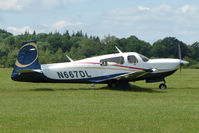N667DL @ EGTB - Visitor to 2009 AeroExpo at Wycombe Air Park