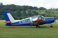 G-BECA @ EGTB - Visitor to 2009 AeroExpo at Wycombe Air Park