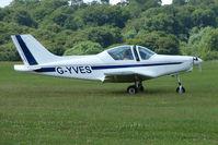 G-YVES @ EGTB - Visitor to 2009 AeroExpo at Wycombe Air Park