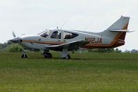 N112JA @ EGTB - Visitor to 2009 AeroExpo at Wycombe Air Park