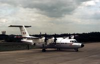 132001 @ GREENHAM - This Dash Seven of 412 Squadron Canadian Armed Forces was on display at the 1981 Intnl Air Tattoo at RAF Greenham Common. - by Peter Nicholson