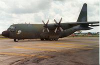 57-0453 @ EGVA - C-130A Hercules of 155 Tactical Airlift Squadron Tennessee ANG on display at the 1991 Intnl Air Tattoo at RAF Fairford. - by Peter Nicholson